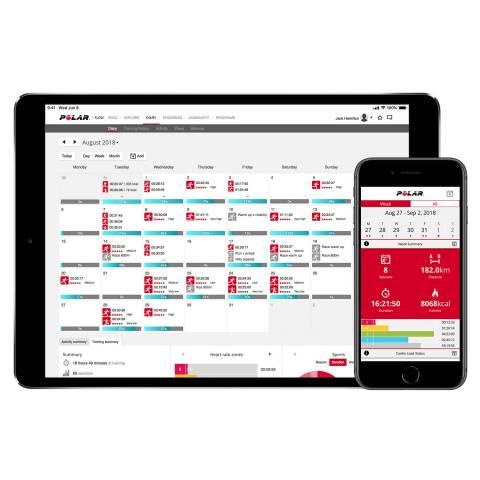 Flow programban naptárnézeben heti összesítések