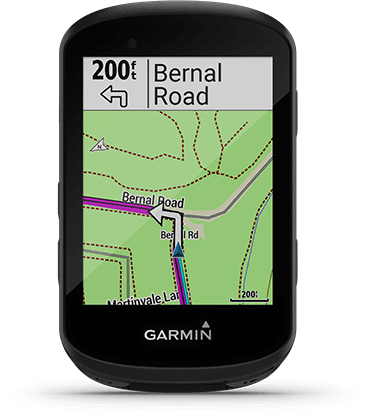 Edge 530 with route calculation screen