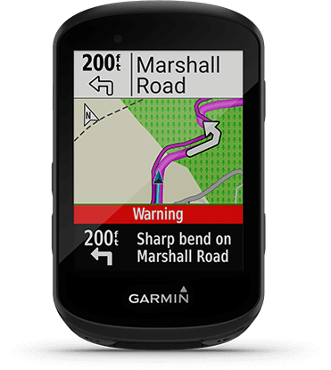 Edge 530 with directions screen
