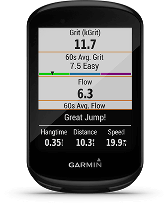 Edge 830 with mountain biking metrics screen