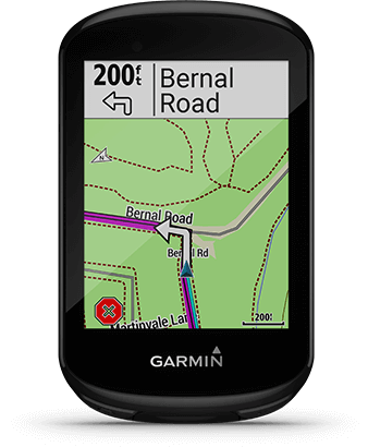 Edge 830 with route calculation screen