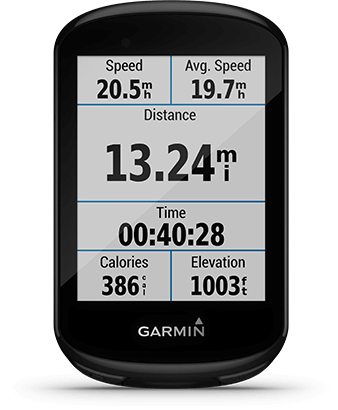 Edge 830 with Garmin Connect screen