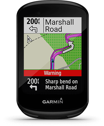 Edge 830 with directions screen