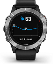 fēnix 6 with body battery energy monitor screen