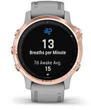 fēnix 6S Pro & Sapphire with respiration tracking screen