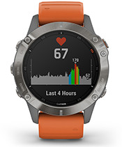 fēnix 6 Pro & Sapphire with heart rate screen