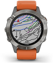 fēnix 6 Pro & Sapphire with TopoActive Europe, ski maps screen